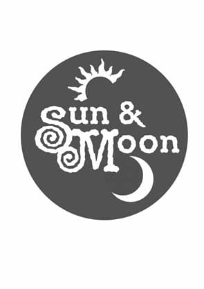 Simple eye-catching logo design with sun and moon.